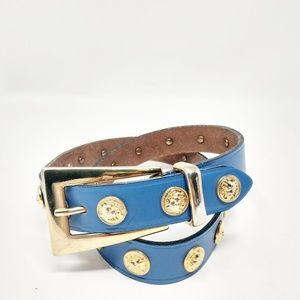 THE LIMITED Italy Women's Size M Blue Leather Stud